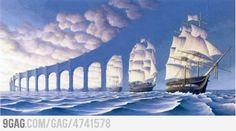 Not Magritte - Rob Gonsalves - The Sun Sets Sail Illusion Kunst, Illusion Art, Optical Illusion Paintings, Optical Illusions, Magic Illusions, Amazing Paintings, Amazing Art, Awesome, Amazing Things