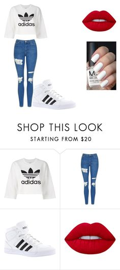 """Untitled #149"" by cruciangyul on Polyvore featuring adidas Originals, Topshop, adidas and Lime Crime"