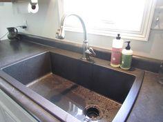 Big single bowl kitchen sink