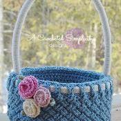 Woven Treasures Basket - via @Craftsy