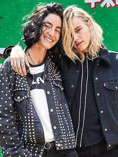 Erika Linder & Heather Kemesky Outtake of @levis holiday  Lauren Loncar @heather_kemesky #heatherkemesky  @richiephoenix #erikalinder #richiephoenix #swedish #model #actress