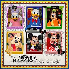 Title Page - Happiest_Place_on_Earth - hobbes130 - mousescrappers.com