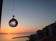 Sunset from Mythos Art Gallery Molivos Molyvos Mythimna Mithymna Lesvos Lesbos Greece