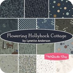 Lynette Anderson for Lecien Fabrics   Flowering Hollyhock Cottage Fat Quarter Bundle includes 15 fat quarters.  Price will be $48.50.