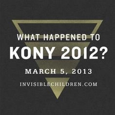 KONY 2012 - one year later