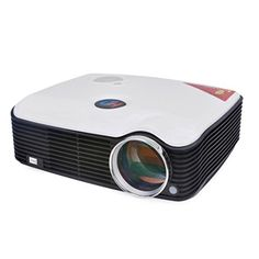 Shufua 800600 2500 Lumens 360 Degree Picture Fliping LCD HDMI LED Projector for Home Cinema Office Education Entertainment White *** Click on the image for additional details.