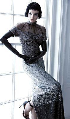Parisan Mademoiselle by Carla Zampatti. Carla Zampatti, Stylist Pick, Sequin Gown, Future Fashion, Silver Sequin, Duchess Of Cambridge, Black Tie, Fashion Details, Kate Middleton