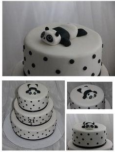 Black and White Panda Cake