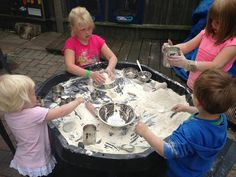 """Flour play at Cathy's Childminding ("""",)"""