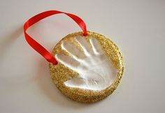 Easy baking soda clay handprint keepsakes.