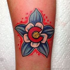 Best Columbine Flower Tattoo On Arm