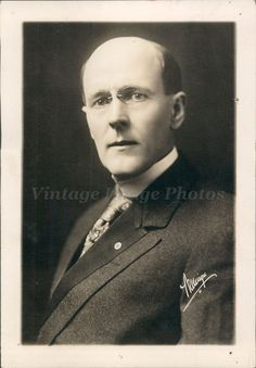 1927 Photo Paul Harris Chicago IL President Emeritus Rotary International Rare