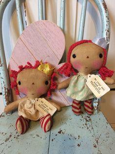 Princess doll  raggedy Ann doll  raggedy by oldragdollcupboard