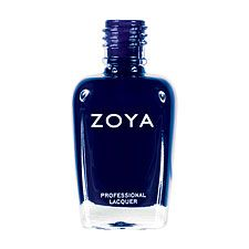 Ibiza by Zoya can be best described as a blackened indigo-blue brightened slightly by subtle metallic blue shimmer