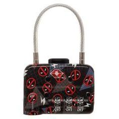 565eec5f69f Marvel Comics Deadpool Logo TSA Approved Travel Combination Cable Luggage  Lock for Suitcase Baggage