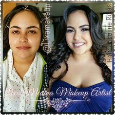Bridesmaid  #bridesmaid #wedding #makeup #beforeandadter