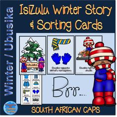 IsiZulu Winter themed story booklet and sorting/ordering cards to go with the story. Simple Stories, Short Stories, Sequencing Cards, Winter Theme, Sorting, Booklet, Teaching Resources, Literacy, Kindergarten