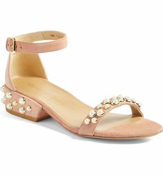 bfee6a1c391d Stuart Weitzman - Allpearls Ankle Strap Sandal in naked suede (Women)