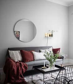 Grey and beige home with a niche bedroom - via Coco Lapine Design blog