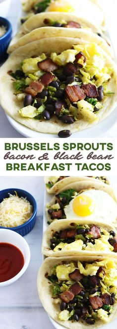 Take advantage of brussels sprouts season & change up your taco game with these autumn-inspired Brussels Sprouts, Bacon and Black Bean Breakfast Tacos.