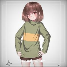 Anime Undertale, Undertale Drawings, Undertale Cute, Frisk, Anime Girl Drawings, Anime Art Girl, The Ancient Magus Bride, First Humans, Add Elsword