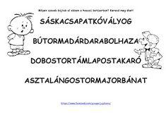 JujoBoro: Játékos feladatok magyar órára Dysgraphia, Teacher, Letters, Education, Math, Comics, Professor, Teachers, Math Resources