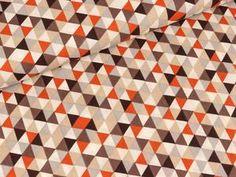 Rauten Squares Dreiecke Gobelin Stoff Vorhänge Polster 140cm Breit