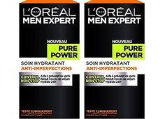 L'Oréal Men Expert Pure Power Soin Visage Homme Anti-Imperfections Peau Grasse - Lot de 2