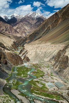 Madiyan hot springs near Murghab Tajikistan
