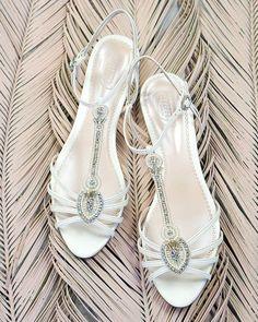 18 Wedding Sandals You'll Want To Wear Again ❤ wedding sandals with crystal white emmylondon #weddingforward #wedding #bride