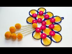 BEST OUT OF WASTE BANGELS AND WOOL CRAFT IDEA/DIY WOOLEN AND BANGELS WALL HANGING TORAN - YouTube