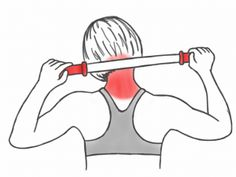 Soft Tissue Therapy - Massaging the Neck and Trapezius Muscles with the Stick Neck And Shoulder Exercises, Posture Exercises, Neck Stretches, Shoulder Workout, Shoulder Pain Relief, Neck Pain Relief, Neck And Shoulder Pain, Shoulder Tension, Trapezius Stretch