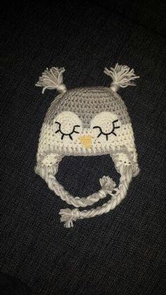 Crochet owlhat Beanie, Crochet, Hats, Fashion, Moda, Hat, Fashion Styles, Ganchillo, Beanies