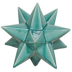 Emissary Astral Ornament Small - Teal By ($152) ❤ liked on Polyvore featuring home, home decor, holiday decorations, decor, teal blue home decor, teal ornaments, teal home accessories and teal home decor