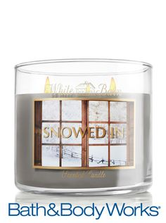 Snowed In 3-Wick Candle — cozy up to this blend of fresh juniper, sugared sap and sage ♥ #LUVBBW