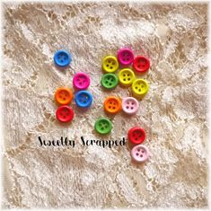 16 Mini Buttons ... Rainbow / Variety / Scrapbooking / Planner Cardmaking, Washer Necklace, Scrapbooking, Rainbow, Buttons, Unique Jewelry, Mini, Handmade Gifts, Etsy