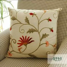Cushion Embroidery, Embroidery Patterns, Hand Embroidery, Bordado Popular, Family Tree Designs, Bordados E Cia, Needlepoint Designs, Brazilian Embroidery, Cross Stitch Embroidery