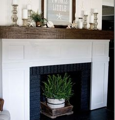The Fireplace Makeover < Meet The Lettered Cottage - MyHomeIdeas.com