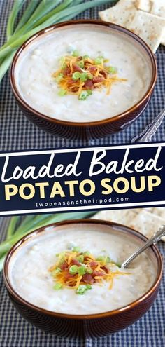 Leftover baked potatoes? Make them into baked potato soup! This easy comfort food recipe will remind you of a loaded baked potato but in a soup form. Loaded with toppings, this thick and creamy soup is the perfect meal for a cold day! Make this for dinner!