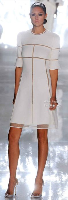 Chado Ralph Rucci Spring 2013 RTW (Flattering lines in this entire collection; though I'd need the Ready to Wear version) Excellent taste.
