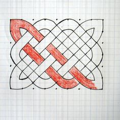 How to draw a celtic knot.Step by step directions (including illustrations) on creating a Celtic knot design.