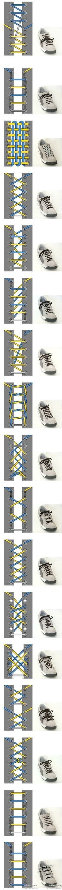 17 kinds of ways to tie shoelaces!!!