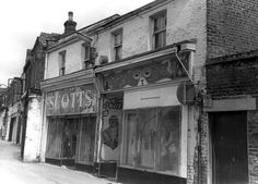 Angel Lane, Stratford. 1973. Vintage London, Old London, Vintage Shops, London History, Local History, Stratford London, Newham, East End London, London Shopping