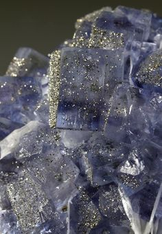"Fluorite with 'druzy' Pyrite - or as I also like to call it: ""Fluorite-with-Christmas-On! """