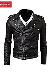 MANWAN WALK®Men's Side Zipper Motorcycle Leather Jacket
