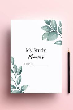 Printable College High School Student Study Planner Template Daily Planner