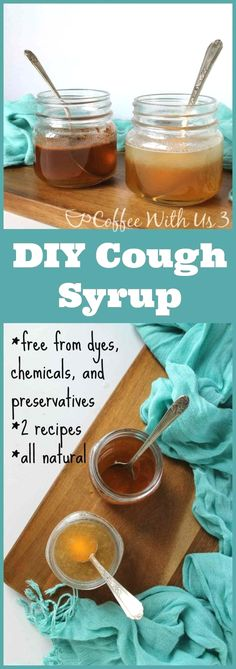 Flu Remedies DIY Cough Syrup-- Did you know you can make your own cough syrup? How cool is that? No more dyes, synthetic ingredients, just simple, real ingredients! Cough Remedies For Kids, Home Remedy For Cough, Natural Sleep Remedies, Cold Home Remedies, Flu Remedies, Natural Health Remedies, Herbal Remedies, Natural Cures, Natural Treatments