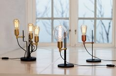 Regal table lamp. Made in Sweden. By Belid.