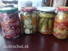 Postupne nakrájame do veľkej vaničky uhorky,, fotogaléria 1 / 20 Min, I Love Food, Pickles, Cucumber, Mason Jars, Homemade, Canning, Eat, Europe
