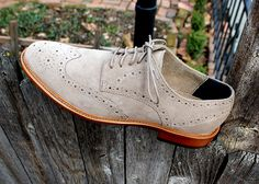 In Review: The Banana Republic Suede Waller Wingtip  Banana Republic Waller Brogue Oxford $94.80when 40% off ($158)  NOTE: If youre a cardmember you can get these for $71.10 right now if you use the 50% off F&F code BRCARD50 as well as the extra 10% off the sale price code BRCARD. If youre not a cardmember and willing to opt into BR promotional texts you should be able to text FUN to 89532 to get your own personal 50% off code.  When is a Brogue Oxford not a Brogue Oxford? Thatd be here…